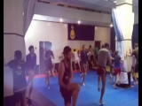 Тренировка по Муай тай в Спортивном зале единоборств