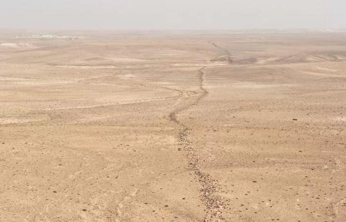 Стена Хатт Шебиб в Иордании