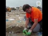 Как обычный человек очистил пляж от 5 миллионов кг. мусора в Индии