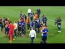 Juventus 1-2 SS Lazio ¦ Jugadores y ultras celebran la victoria.