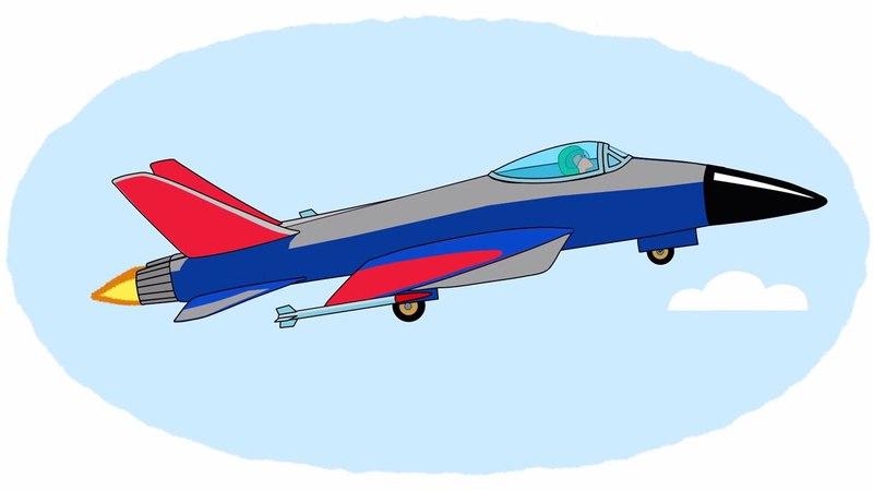 Das Zeichentrick-Malbuch. Farben lernen – Lufttransportmittel, Teil 2.
