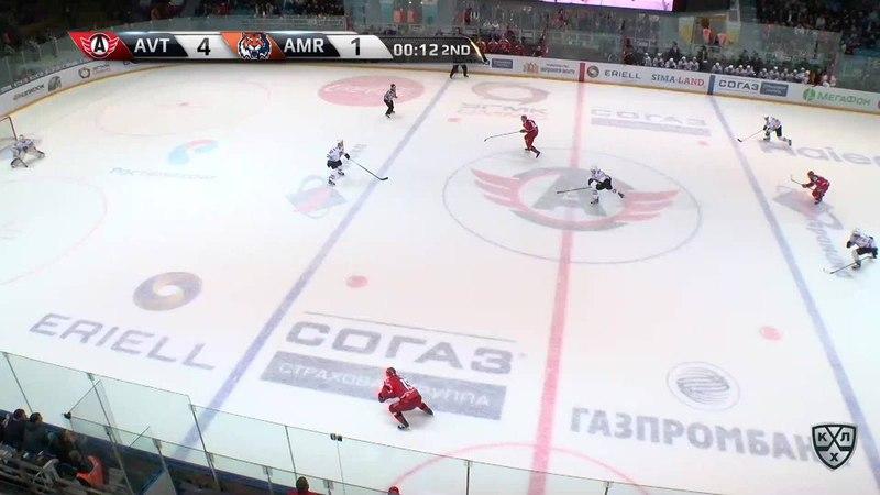 Моменты из матчей КХЛ сезона 17/18 • Гол. 5:1. Франсис Паре (Автомобилист) реализует выход два в одного 08.09