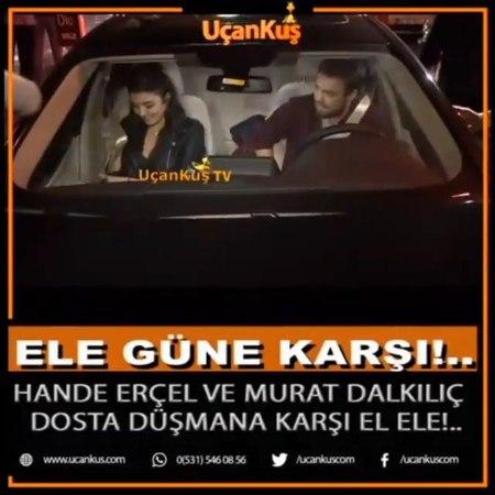"""EnMagazin on Instagram """"Hande Erçel ve Murat Dalkılıç Çifti dün gece ilk kez el ele kameralar karşısına çıktı. İkili gayet rahat tavırlarla magaz..."""
