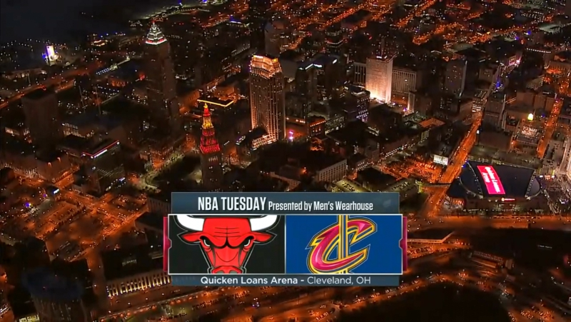 Cleveland Cavaliers vs Chicago Bulls on Quicken Loans Arena 10.10.2017