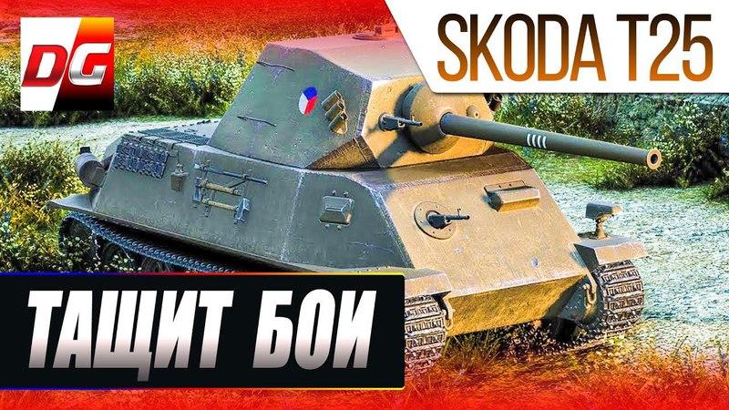 Тащим на Skoda T25 или Если имба то пофиг на уровень боев.