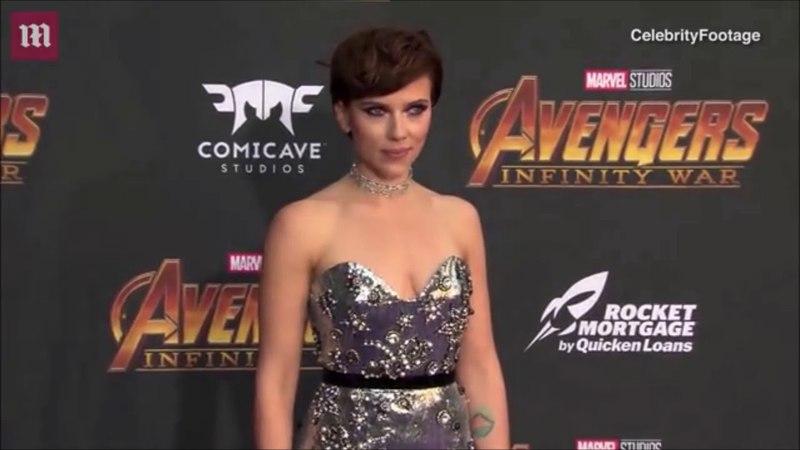 Avengers: Infinity War Red Carpet - Scarlett Johansson Colin Jost