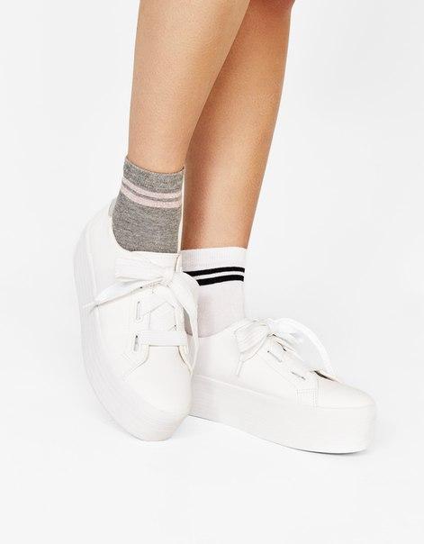 Носки в спортивном стиле, с металлизированной нитью