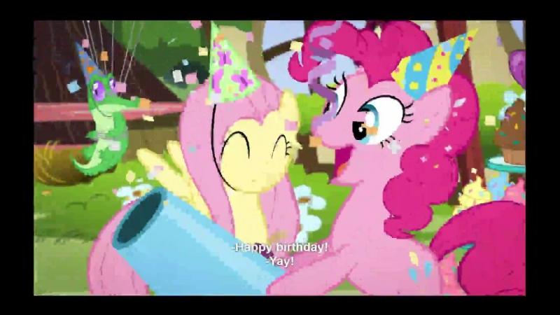 Netflix: My Little Pony — поздравление с днём рождения (в плохом качестве)