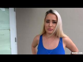 Mila Marx Curvy Blonde Rides Dick In Garage PublicPickups