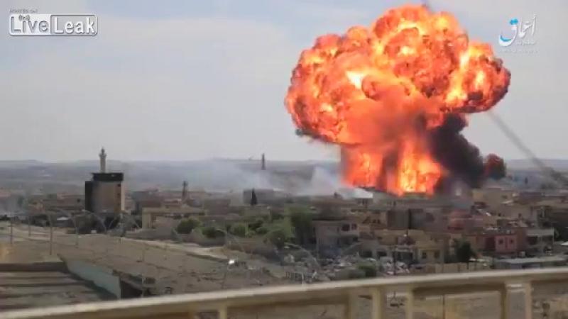 Подрыв шахид-мобиля в Ираке. Джихадмобиль, самоподрыв, террорист.