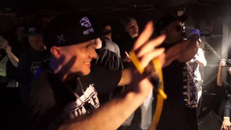 Bad Balance (Шeff, Al Solo, Купер и DJ LA) исполнила трек Город джунглей в Санкт-Петербурге. (7 апреля 2018 г.)