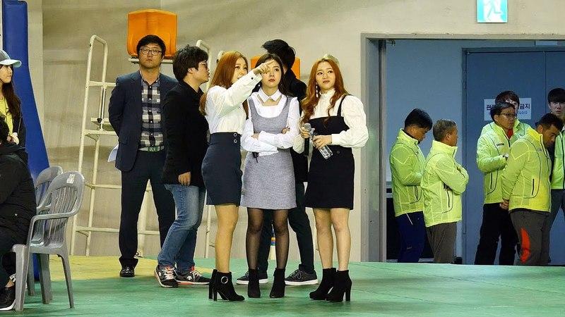 180317 레이디스 코드(LADIES' CODE) 공연전 대기 @ 충주 시민축구단 창단식 4K 직캠 Fancam by Happiness
