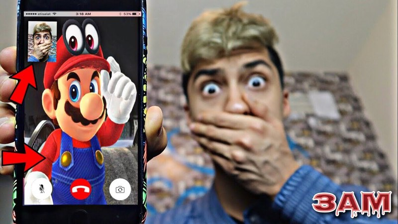 DO NOT FACETIME SUPER MARIO AT 3AM!! *OMG HE CAME TO MY HOUSE*