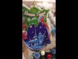 Новогодний подарочный крафт-пакет с поздравительной открыткой