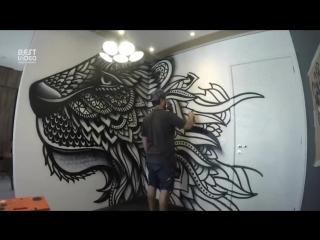 Потрясающий рисунок на стене