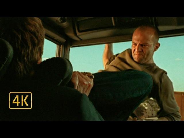 Фрэнк Мартин (Джейсон Стейтем) прыгает с самолёта и угоняет грузовик. Перевозчик (2002)