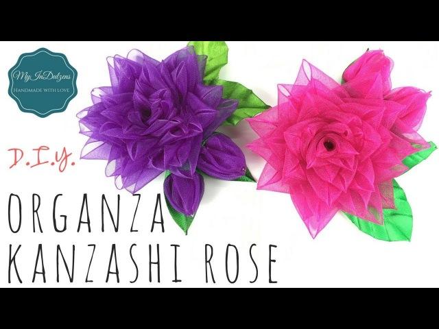 D.I.Y. Organza Kanzashi Rose | MyInDulzens
