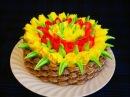 ТВОРОЖНЫЙ торт по ГОСТу Рецепт ТОРТА Рецепт масляного крема со сгущенкой Торт КОРЗИНА с ТЮЛЬПАНАМИ