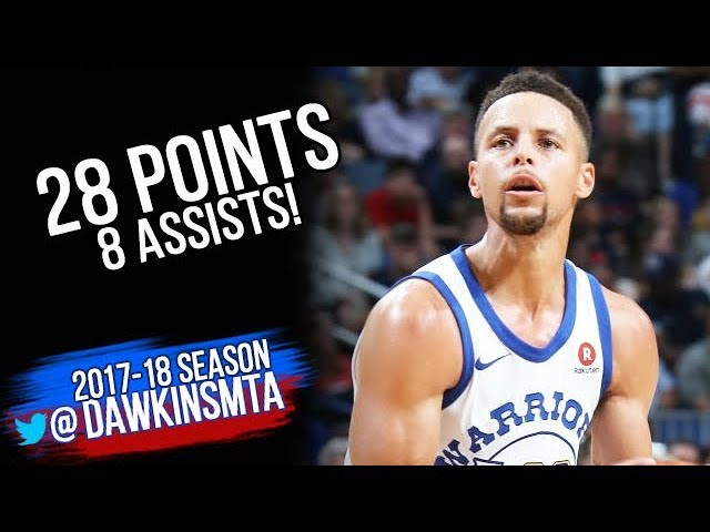 Stephen Curry Full Highlights 2017.10.20 at Pelicans - 28 Pts, 8 Assists!