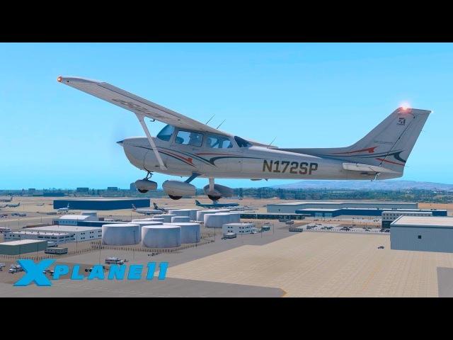 ПИЛОТНЫЙ ВЫПУСК / KLAX (Los Angeles International) - KLGB / CESSNA 172 | X-Plane 11 1