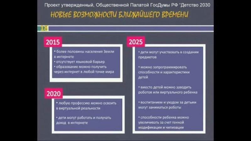Ч.2 Добровольное цифровое рабство, биороботизация в РФ.