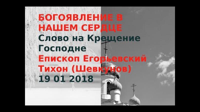 Крещение Господне Проповель Епископа Егорьевского Тихона