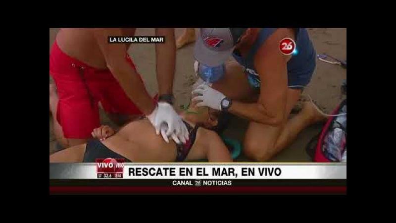 Canal 26 - Alvaro Paez en La Lucila: Simulacro de Rescate en vivo
