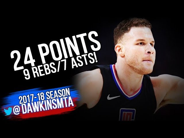 Blake Griffin Full Highlights 2018.01.04 vs Thunder - 24 Pts, 9 Rebs, 7 Assists!