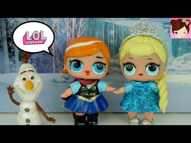 DIY LOL Surprise Dolls Custom Frozen Elsa Anna Toddlers   Lil Outrageous Littles - Titi Dolls