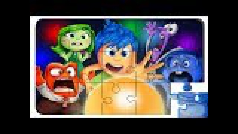Puzzle Video For Kids Inside Out. Puzzle cartoon with colored cars.