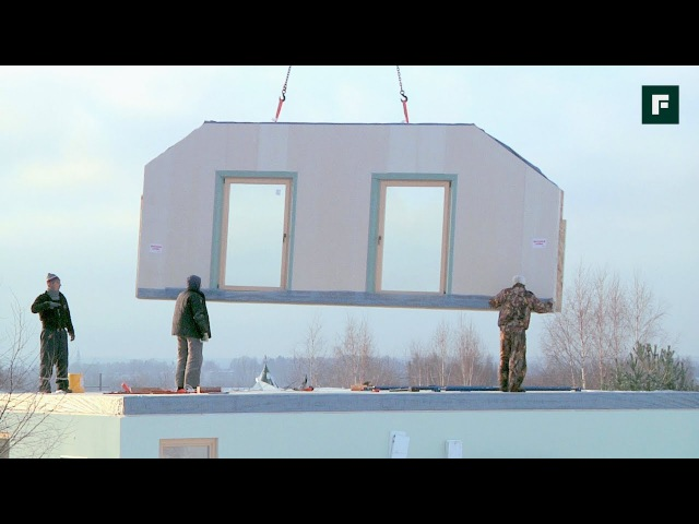 Монтаж дома по сборно-панельной технологии FORUMHOUSE
