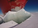 Icebreaking in Antarctica. Amazing GOPRO footage