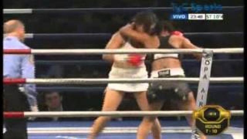 Ogleidis SUAREZ vs Liliana PALMERA II - WBA - Full Fight - Pelea Completa