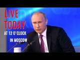 Прямая трансляция  2017  Большая пресс-конференция Владимира Путина 14 декабря 2017