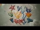 Кораллы разных видов, морская звезда из ваты, видео мк