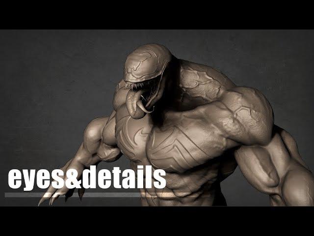 Venom Sculpt Timelapse: Eyes Details