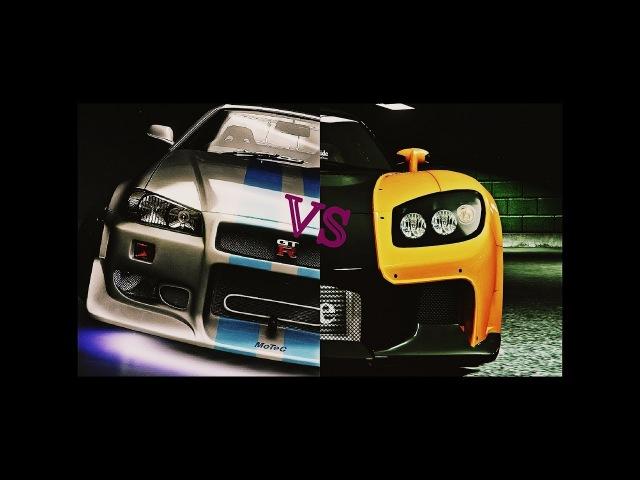 2Fast 2Furious/Tokyo drift: Mazda vs. Nissan (cut scene/вырезанная сцена)