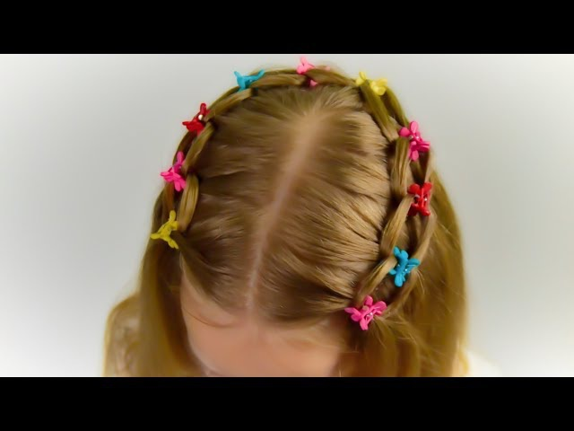 3 MINUTES!! LOOP WATERFALL BRAID. Quick and Easy hairstyle for little princess 44