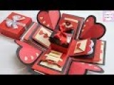 How to make Explosion box DIY Valentine's Day Explosion Box Explosion Box Tutorial