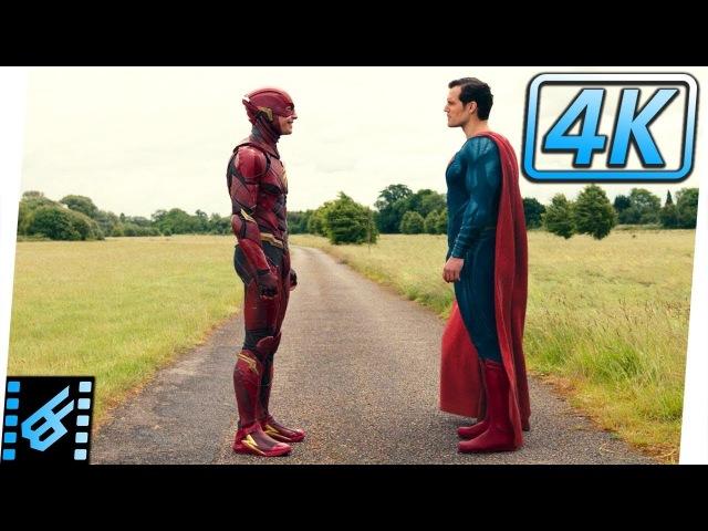 The Flash vs Superman Race / Mid Credits Scene   Justice League (2017) Movie Clip