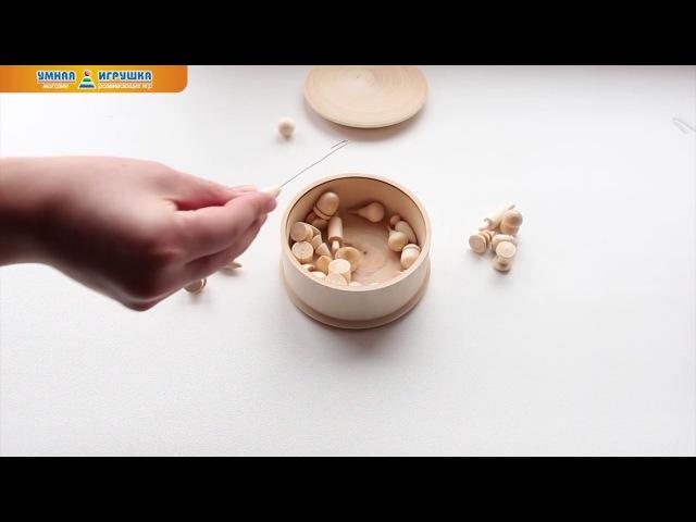 Игра Бирюльки в футляре «Шкатулка», Деревянные игрушки