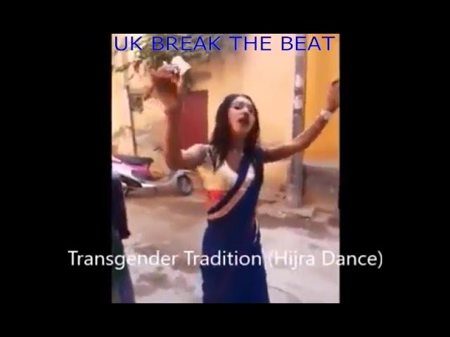 Skinny Shemale, Kinner, Kiner, Hijra Hot Dancing for money in Blue Saree