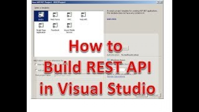 How to Create a REST API in Visual Studio