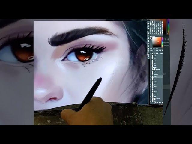 Небольшой процесс рисунка(глаз)