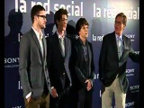 Justin Timberlake promoting The Social Network with co-stars in Madrid