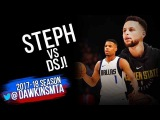 Stephen Curry vs Dennis Smith Jr PG Duel 2018.02.08 - DSJ With 22, Steph With 20-8-7!  FreeDawkins