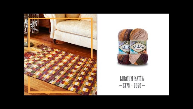 Batik renklerle etkili kilim yapılışı An effective carpet with Batik colours