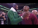 Isaiah Thomas Greets Kyrie Irving Former Teammates After Loss To Celtics