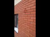 Алмазное бурение отверстия в кирпичной стене под воздуховод турбированного котла. Алмазное-бурение-резка.рф