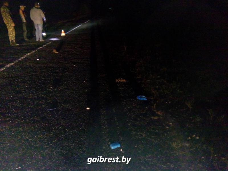 """В Кобринском районе под колесами """"Ауди"""" погиб лежавший на проезжей части пешеход"""